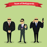 Leibwächter Team People Group Flat Style Stockfotos