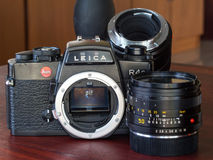 Leica R4S with their lens in natural light Stock Photo