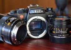 Leica R4S z ich obiektywem w naturalnym świetle Obrazy Stock