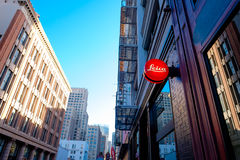 Leica Storefront Downtown San Francisco Royalty Free Stock Photography