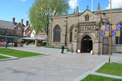 Leicester Cathedral. Of St. Martin in the city of Leicester, where the remains of king Richard III are buried Royalty Free Stock Images