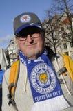 LEICESTER CITY FAN. Copenhagen / Denmark_ 01st. November 2016 _  Shafford Buck fron Francis  former Leicester city  and Leicester city football fan in Copenhagen Stock Image