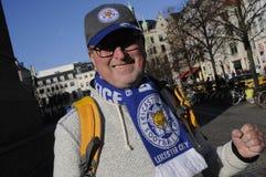 LEICESTER CITY FAN. Copenhagen / Denmark_ 01st. November 2016 _  Shafford Buck fron Francis  former Leicester city  and Leicester city football fan in Copenhagen Stock Photo
