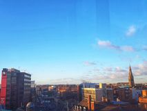 Leicester city skyline royalty free stock photography