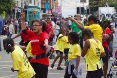 Leicester-karibischer Karneval, Großbritannien 2010 Stockfoto