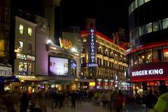 Leicester kvadrerar i London, UK Royaltyfria Bilder