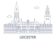 Leicester, le costruzioni più famose della città Immagini Stock Libere da Diritti