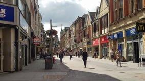 Leicester-Markt-Straße England lizenzfreie stockfotos