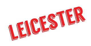 Leicester rubber stamp Royalty Free Stock Photo