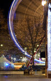 Leicester Square Christmas Fair. Festive, attractions, carousel,ferris wheel and a Christmas market at the traditional Leicester Square funfair in the run up to Royalty Free Stock Photo