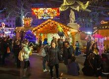 Leicester square traditional fun fair, London Stock Photos