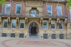 Leicester Town Hall. In the city of Leicester, built in 1874 Royalty Free Stock Images