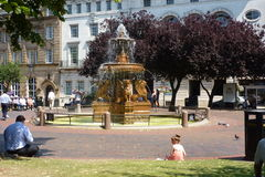 Leicester town hall square fountain Royalty Free Stock Images