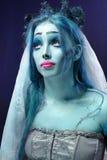 Leichenbraut unter Leuchte des blauen Mondes Lizenzfreie Stockfotografie