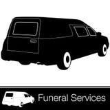 Leichenwagen lizenzfreie abbildung