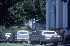 Leichenwagen an einem Begräbnis, Str lizenzfreie stockfotos