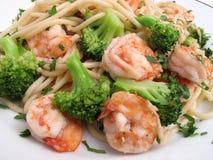 Leicht fetthaltiges Garnele-Abendessen stockfoto