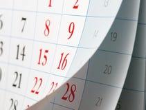 Leicht schlagen von Kalenderblättern Lizenzfreie Stockfotos