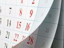 Leicht schlagen von Kalenderblättern Lizenzfreies Stockbild
