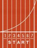 Leichtathletik-Bahn-Weg-Zahlen Stockfoto