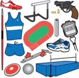 Leichtathletik-Einzelteile Stockfotografie