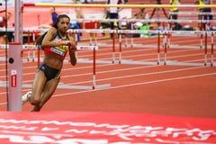 Leichtathletik - Fünfkampf-Frauen-Hochsprung - NAFISSATOU THIAM Lizenzfreies Stockfoto