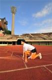 Leichtathletik - Frau 3 Lizenzfreie Stockfotografie