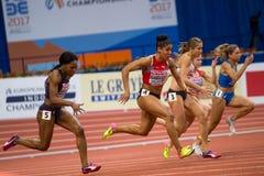 Leichtathletik - Frau 60m Lizenzfreie Stockfotos