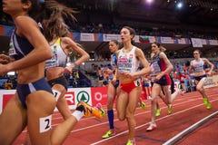 Leichtathletik - Frau 1500m Stockfotografie
