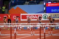 Leichtathletik - Hürden der Frauen-60m - Milica Emini Lizenzfreie Stockfotos
