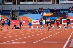 Leichtathletik - Mann 60m Heptathlon Stockfoto