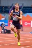 Leichtathletik - Mann 60m Heptathlon, MAYER Kevin Lizenzfreies Stockbild