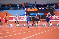 Leichtathletik - Mann 60m Heptathlon, MAYER Kevin Lizenzfreie Stockfotografie