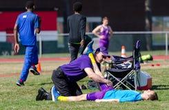 Leichtathletik-Medizin Stockbild