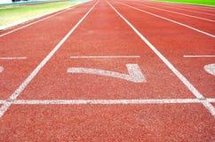 Leichtathletik-Stadions-Laufbahn Nr. 7 Lizenzfreie Stockfotografie