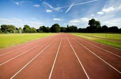 Leichtathletiklaufbahn Stockfotografie