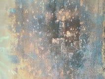 Leichte Schatten der abstrakten Schmutzbeschaffenheit der blauen, grauen und gelben Farben der unbestimmten Stellen mischen zusam Stockbild