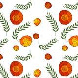 Leichter Blumenhintergrund mit roten Mohnblumen Muster für Gewebe nahtlos Stockfotografie