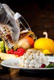 Leichter Nachtisch mit Whisky Eine Halloween-Mahlzeit stockfotos