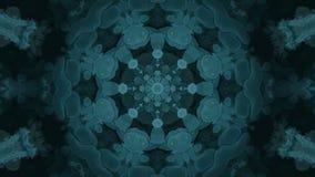Leichter nahtloser blauer Fractal-Kaleidoskop-Hintergrund von den Bakterien stock video footage
