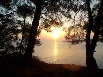 Leichter Sonnenuntergang lizenzfreie stockfotos