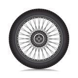 Leichtmetallrad mit Reifen Stockbild