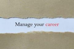 Leid uw carrièrerubriek stock afbeelding