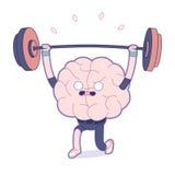 Leid uw hersenen, gewichtheffen op Stock Afbeelding