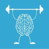 Leid uw hersenen op Stock Afbeelding