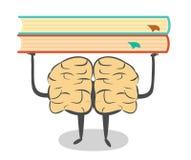 Leid uw hersenen op, lees meer Royalty-vrije Stock Afbeeldingen