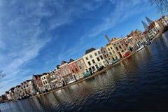 Leida l'immagine olandese del fisheye di panorama Fotografia Stock Libera da Diritti