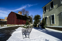 Leidekkersmolen, Pawtucket, RI Royalty-vrije Stock Fotografie