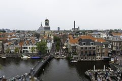 Leiden from above, The Netherlands Royalty Free Stock Image