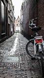 Leiden alley. A bike found in an alley in Leiden, Netherlands Stock Image